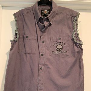 Harley-Davidson Willie G Sleeveless Button Shirt